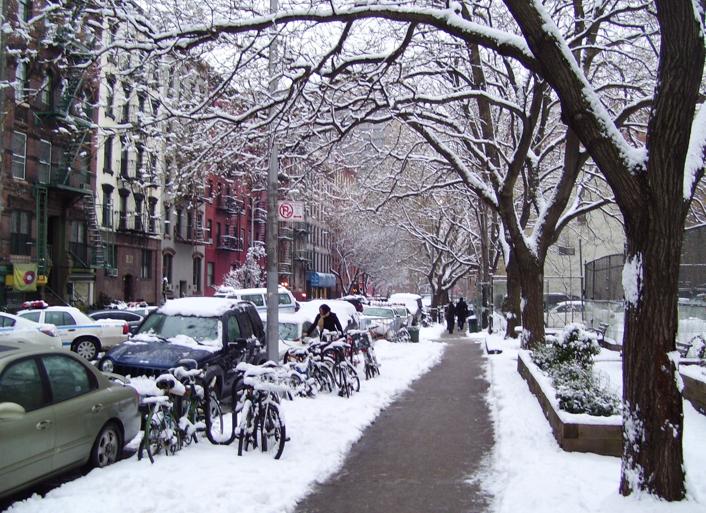 East 5th Street in winter