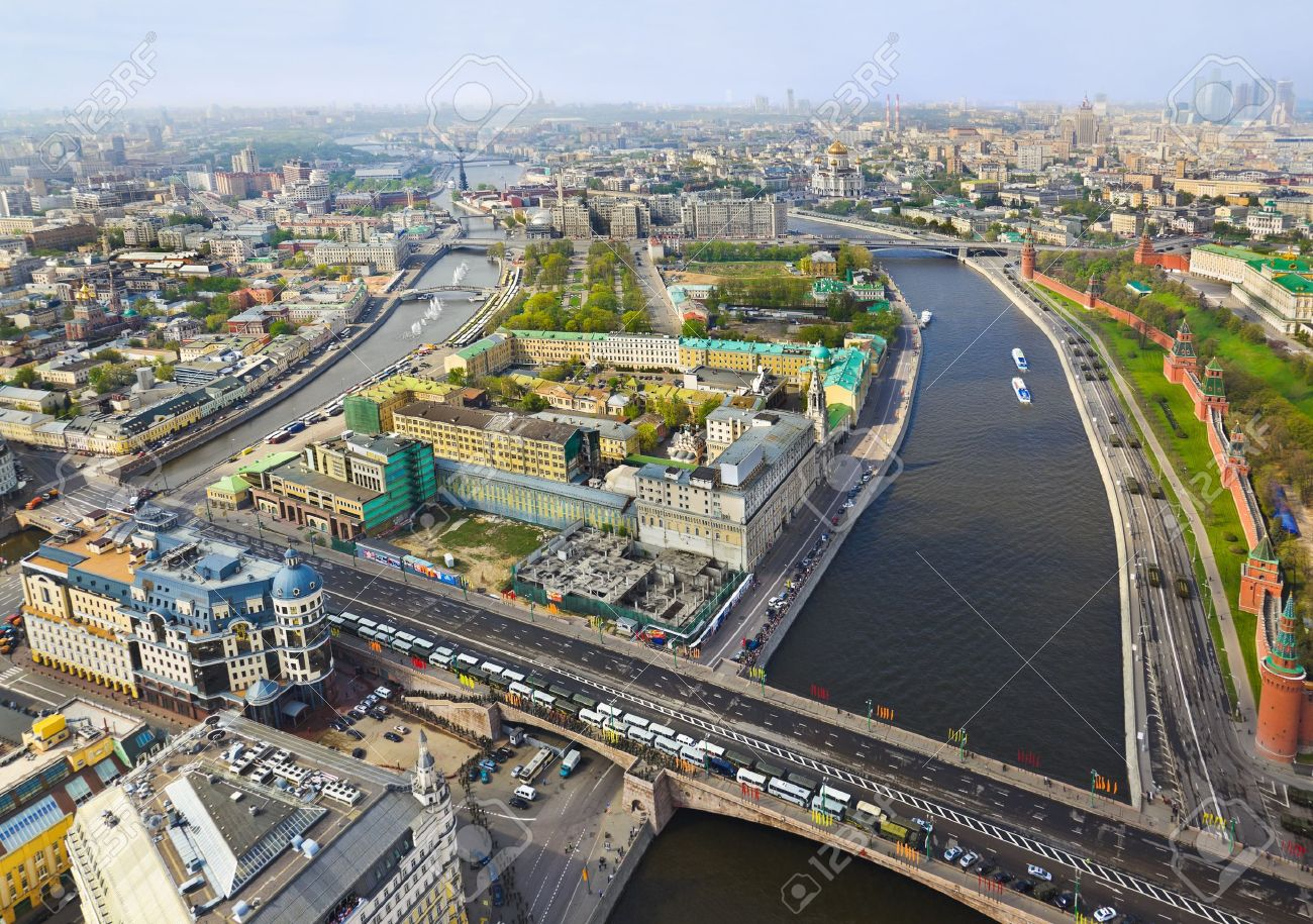 9852919-Moscow-Russia-center-aerial-view-Stock-Photo-moscow