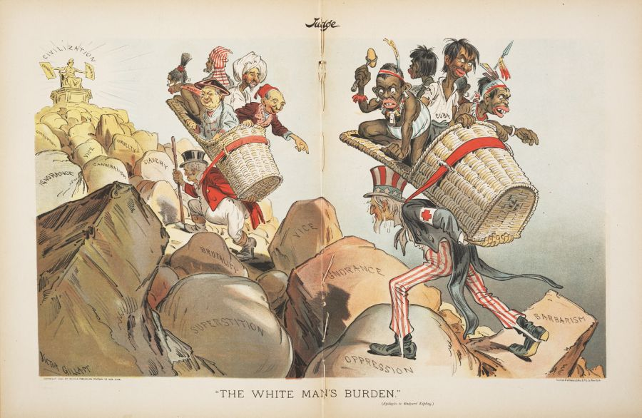 white mans burden These are questions on the poem white man's burden by rudyard kipling  learn with flashcards, games, and more — for free.