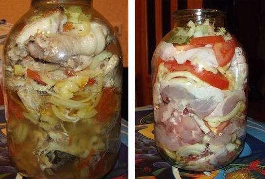 Курица в банке пошаговый рецепт с фото