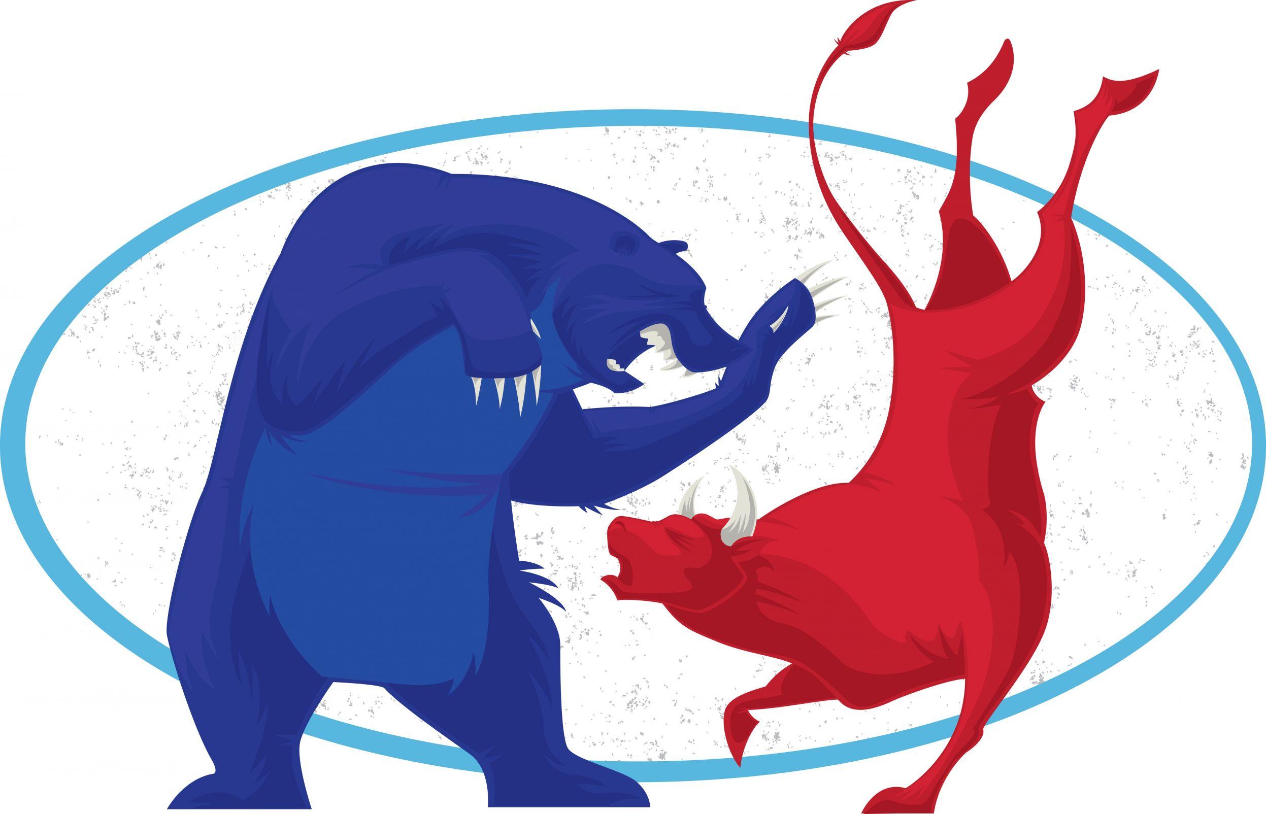 борьба быков и медведей картинки кто