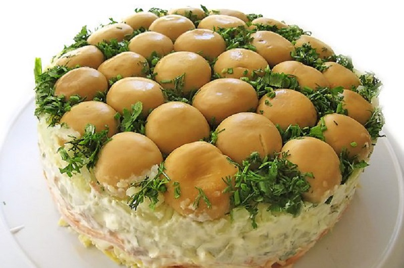 Салат грибная поляна картинки